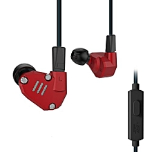 KZ ZS6 Custom-built Hybrid HiFi In-ear Earphones With Mic_RED