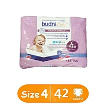 European Baby Pure Cotton Diapers Maxi Size 4, 7-18 kgs 42 count