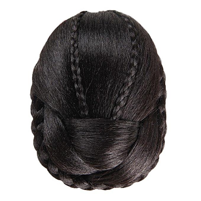 bluerdream-Hair Braided Wig Bun-Black