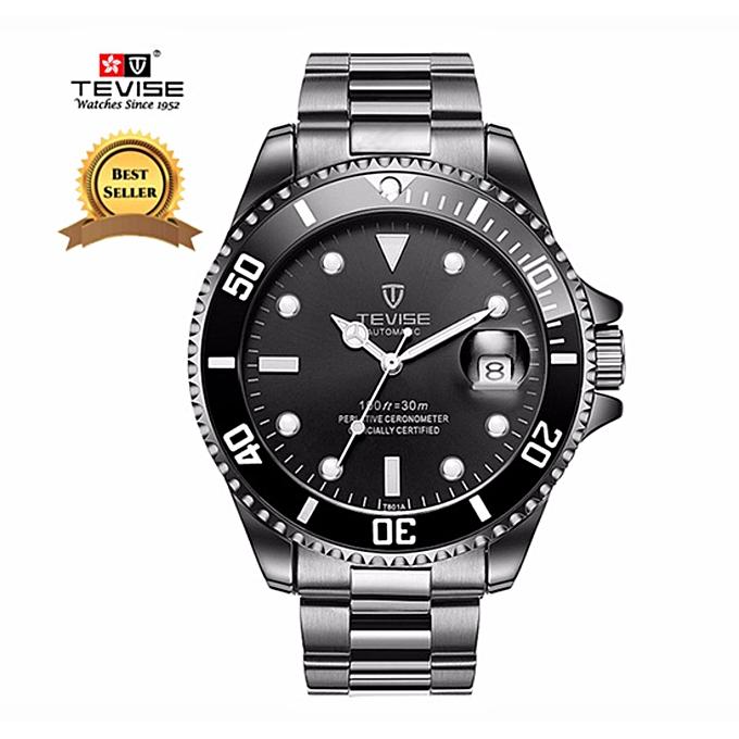 d9e1c75b41b Luxury TEVISE Relogio Automatico Masculino Men Mechanical Watches Fashion  Green Waterproof Sport Business Wrist watch Male