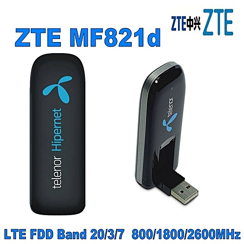 ZTE 100pcs Mobile Broadband MF821d 100Mbps LTE 4G 3G 2G USB modem dongle