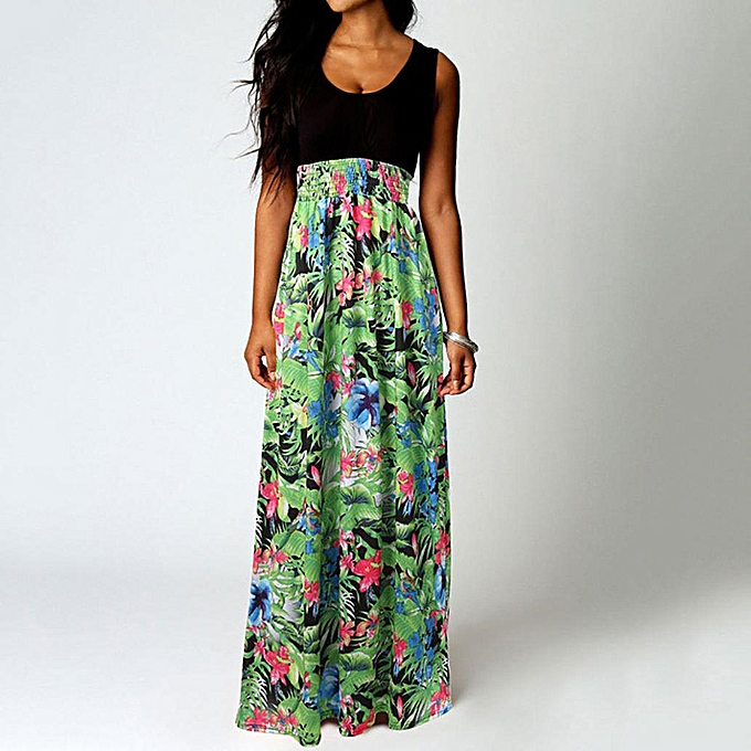 d25dc9f6ce341 whiskyky store Women Boho Maxi Summer Beach Long Cocktail Party Floral Dress