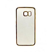 Galaxy S7 Edge - Luxury Clear Crystal Soft Case - Clear & Gold sided