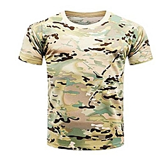 Hequeen New Army Military Shirt Men Camouflage Fitness T Shirt Tactical Combat T-Shirt Quick Dry Tshirt