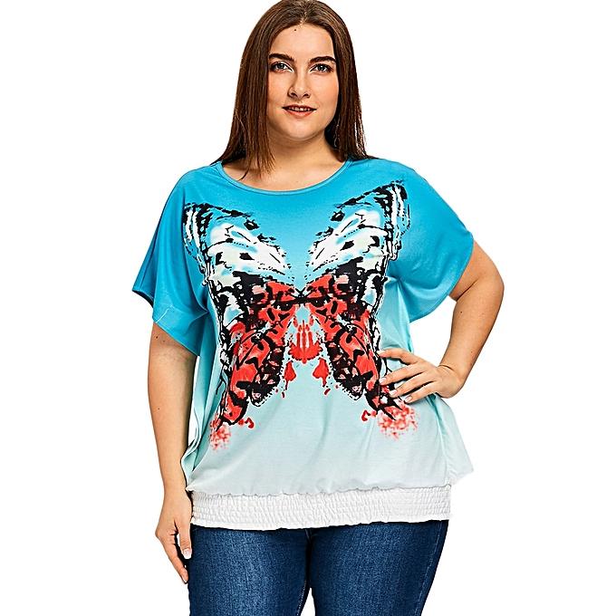 f6515f2d247 Buy Fashion Plus Size Butterfly Blouson T-shirt - COLORMIX   Best ...