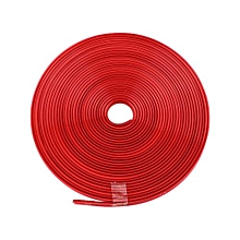 OR 8M Car Wheel Rims Protectors Decor Strip Tire Guard Line Rubber Moulding Trim Red