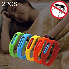 2 PCS Anti-mosquito Silicone Repellent Bracelet Buckle Wristband Bugs Away, Suitable For Children And Adults, Length:23cm, Random Color Delivery