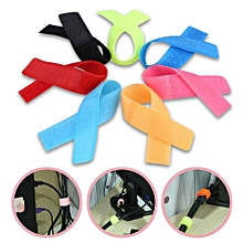 Cord Lead Straps 50pcs/lot Reusable Wire Organiser Cable Holder Magic Tape Ties Cord Lead Straps Black