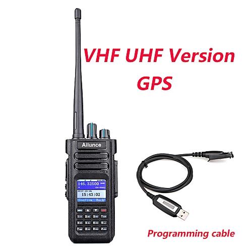 2pcs Ailunce HD1 Walkie Talkie Dual Band DMR Digital DCDM TDMA VHF UHF Ham  Radio Hf Transceiver + Program Cable JULIANA