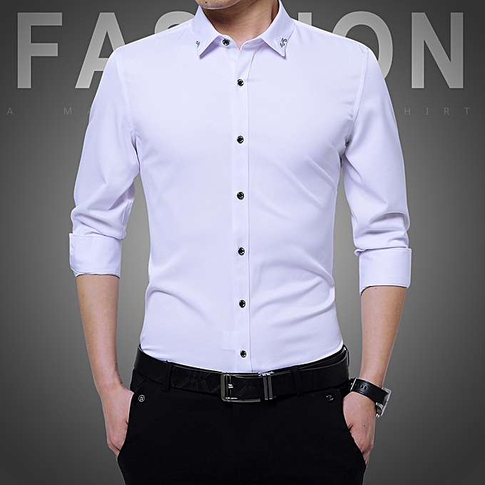 Tauntte Long Sleeve Formal Shirts For Men (White)   Best Price ... b7a85ad8fb1