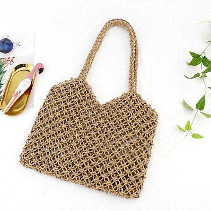 8caa9979061a Minimalist Artsy Vintage Mori Fashionable Hollow Out Weave Bag Vacationing  Beach Summer Cotton Handbags Beautiful and