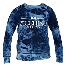 Blue Bleached  Men's Sweatshirts