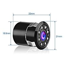 Car Backup Rear View Reverse Parking 8 LED Night Vision HD Camera-Black