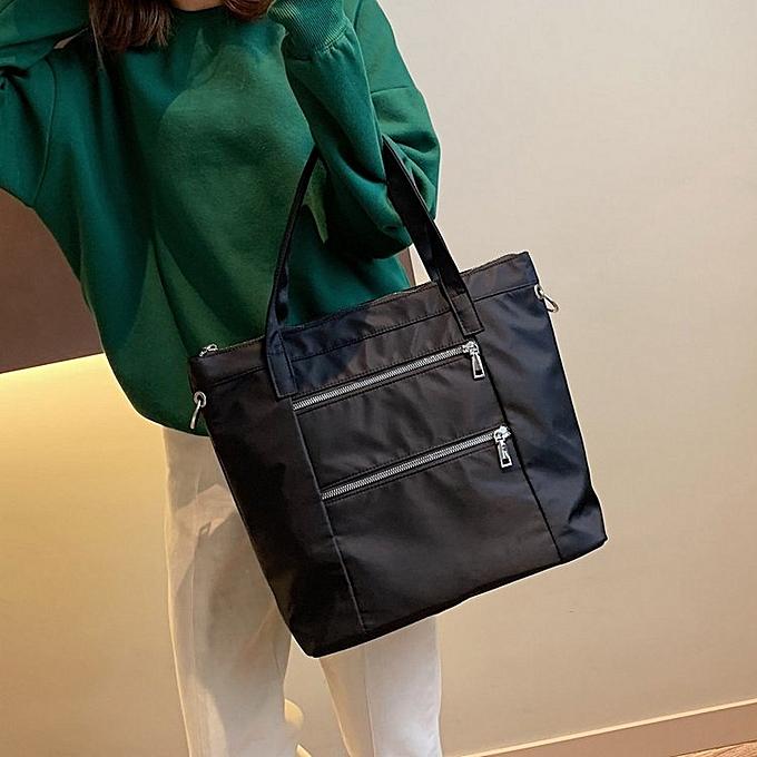 46d21ee08225 Generic Leisure Fashion Nylon Slant Shoulder Bag Handbag (Black ...