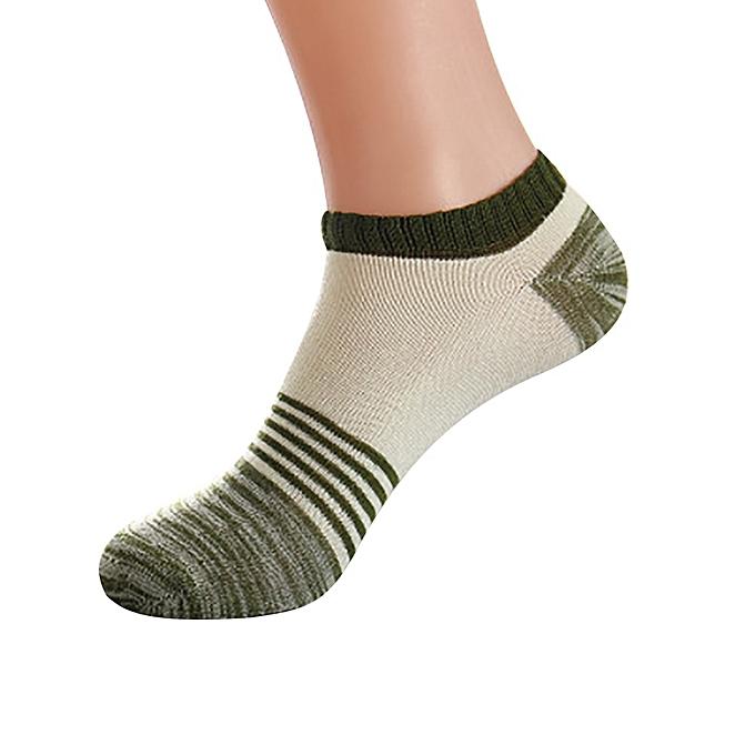 952c4c6381e Fohting Unisex Cute Retro Stripe Fashion Men Sock Comfortable Socks -Green