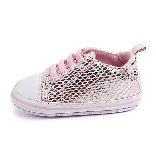 b9908082e30 YiQu bluerdream-Fashion Baby Girl Boy Soft Sole Bling Mesh Anti-slip Shoes  Socks Sneakers PK/11- Pink