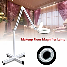 5x Rolling Makeup Floor Stand Magnifying Lamp Glass Facial Jewelry Adjustable AC180-240V UK