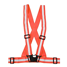 4cm Safe Reflective Elastic Vest Belt Outdoors Night Running Biking Safety