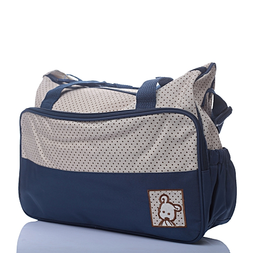 Waterproof Baby Diaper Bag With Changing Mat Blue