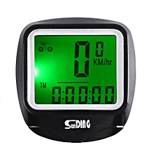 SunDing SD - 568AE Leisure Wired Bicycle Computer Water Resistant Cycling Odometer Speedometer with LCD Backlight Black