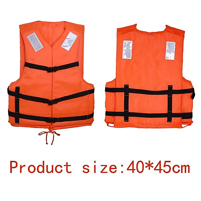 abdfeffb48a ... Orange Adult Flood Foam Life Jacket Swimming Life Vest With Reflective  Strap and Whistle ...