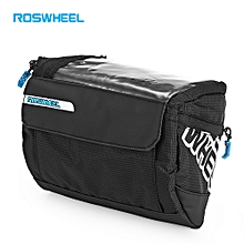 111271 3L Water Resistant Bicycle Front Map Bag Cycling Pouch Sling Pack - Black
