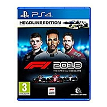 PS4 Game F1 2018