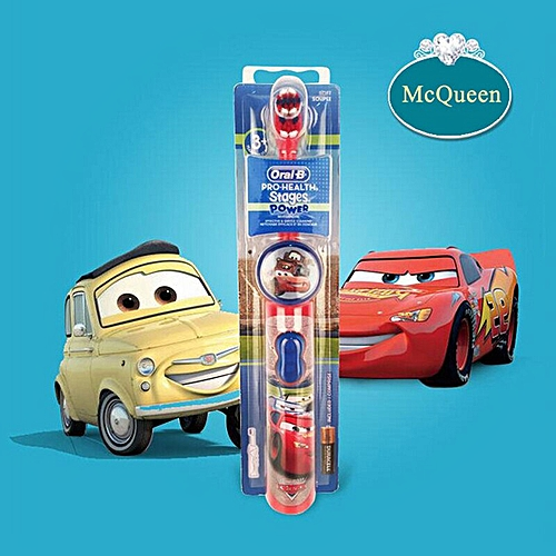 OralB Electric Toothbrush for Children Gum Care Rotation Vitality Cartoon  Oral Health Soft Tooth Brush for Kids Battery Powered(Cars-McQueen)
