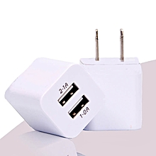 10W Fast 2 USB Ports Charger for iPhone & Android – White
