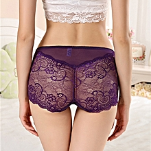 Front Pocket Perspective Lace Underwear Hips Up Briefs
