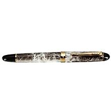 Jinhao X450 Brown Marble Chunky Medium Flex Nib Fountain Pen