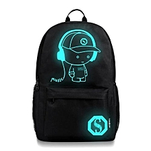 4a55ef8e1119 bluerdream-Unisex Light Preppy Teenagers Noctilucent Cartoon School Bags  Student Backpack - Black