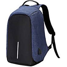 Blue Anti-Theft Back Pack
