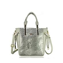 P.U Leather Handbag - Grey