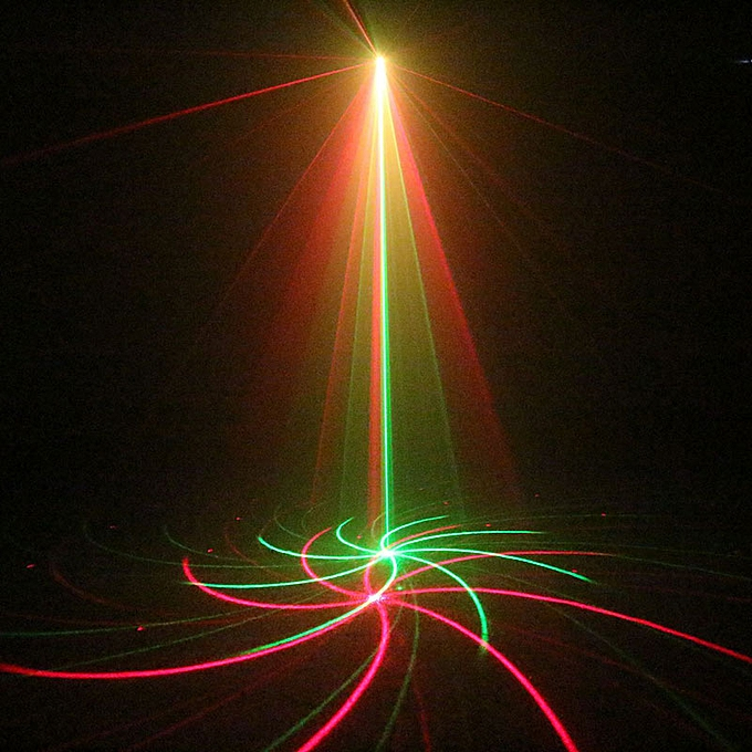 Red Green Laser Light Music Projector Dj Disco Ball Strobe Lights 20  Pattern Color Change for Laser Disco Music Center Equipment QLANA