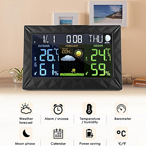 Generic Ts Y01 Wireless Color Weather Station Forecast
