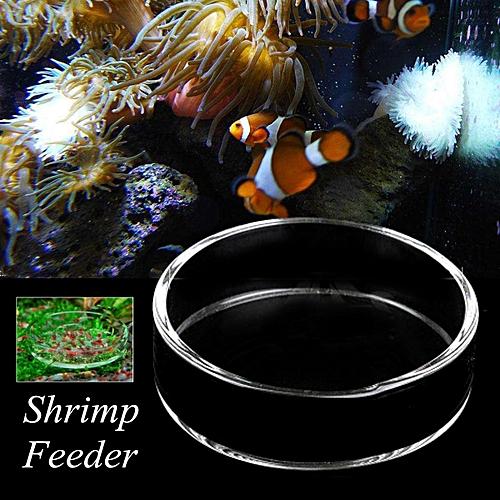 Generic Aquarium Fish Tank Clear Acrylic Shrimp Feeding Food Dish Feeder Tray Glass Container # 7cm