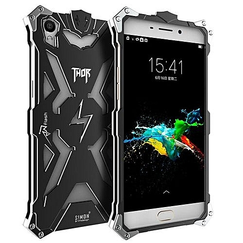 Armor Heavy Dust Metal Aluminum THOR IRONMAN Case Cover For OPPO R9 (Color: Black