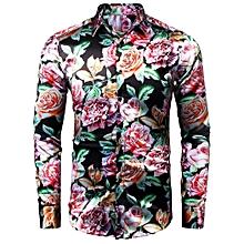 Men Long Sleeve Single Breasted Printing Shirt-Array