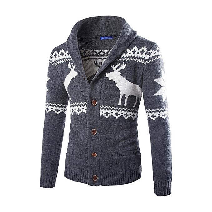 Buy Generic New Mens Deer Sweater Christmas Cardigan Sweater