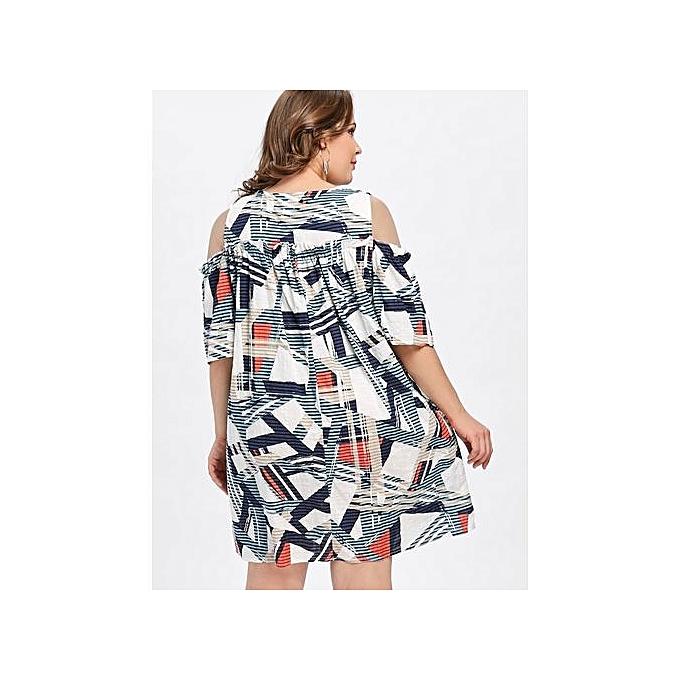 48c5c6718befab OEM Plus Size Open Shoulder Tunic Dress (WHITE)   Best Price