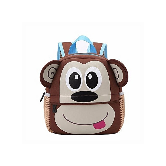 8eb86fa23a Toddler Kid Children Boy Girl 3D Cartoon Animal Backpack School Bag  Rucksack HOT Monkey Pattern