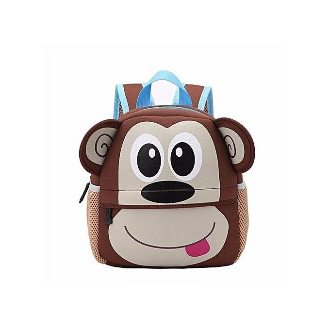 7e807ab3aa5e Toddler Kid Children Boy Girl 3D Cartoon Animal Backpack School Bag Rucksack  HOT Monkey Pattern