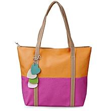 Women's Dual Purposes Bag - Yellow & Purple
