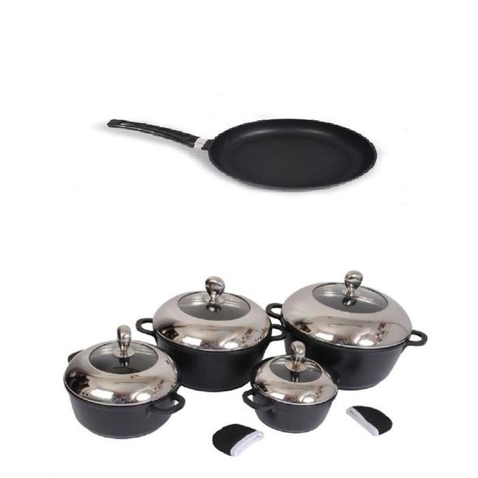 Sonaya 4 Nonstick Cooking Pots Amp 32 Cm Non Stick Frying