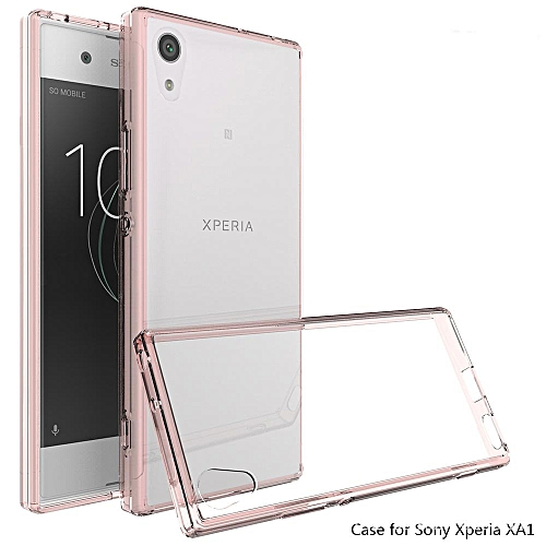newest 1381f 035d1 For Sony Xperia XA1 Transparent Silicone Phone Case Anti-drop Silicone Case  Acrylic Frame + Silicone Transparent Back Cover + Transparent Air Bag = 3  ...