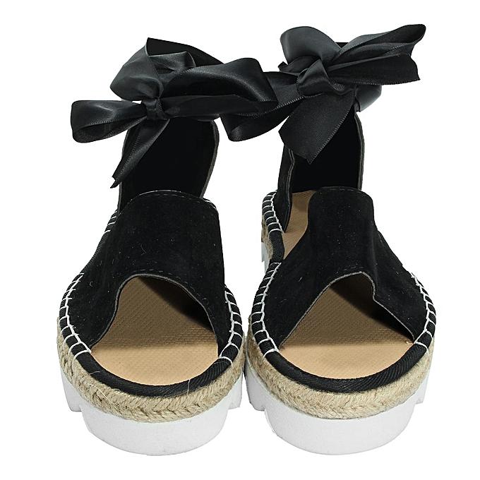 7a28a7ea8cf Fashion Womens Sandals Anke Strap Block Summer Espadrille Platform Casual  Shoes-EU