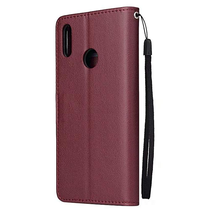 6085bae0d3c7 Case For Huawei Y7 2019, Luxury Flip Magnetic Wallet [3 Card Slots/Holder]  [Kickstand Feature] Shock Absorbing Premium PU Leather Flip Folio Wallet ...