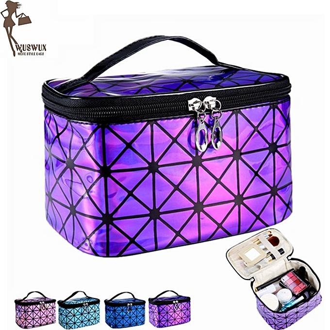 c08ec54dc7b0 PU women make up bag fashion travel organizer cosmetic bag professional  makeup case suitcase toiletry bag pouch beauty case(Pink)