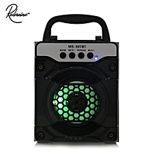 MS - 307BT Portable Bluetooth Speaker With LED Lights 3 Inch Driver Unit